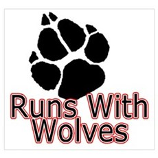 Runs With Wolves Poster