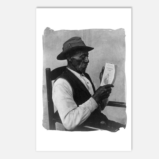 Old Man Reading Postcards (Package of 8)