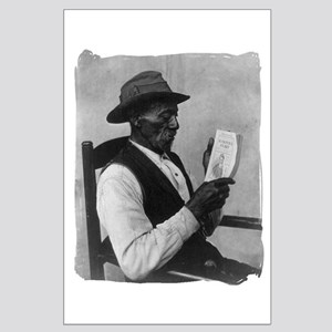 Old Man Reading Large Poster