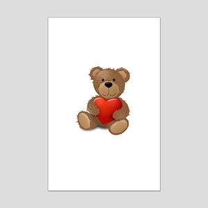 Cute teddybear Mini Poster Print