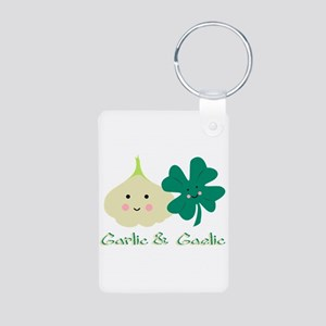 Garlic & Gaelic Aluminum Photo Keychain