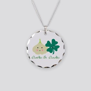 Garlic & Gaelic Necklace Circle Charm