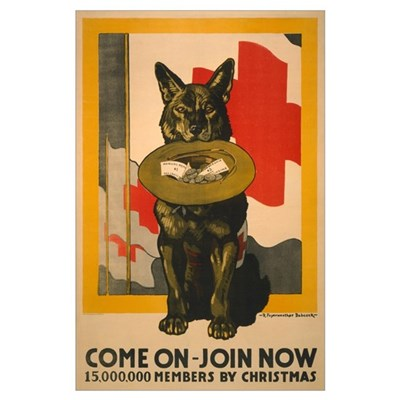 RED CROSS DOG 11x17 Poster