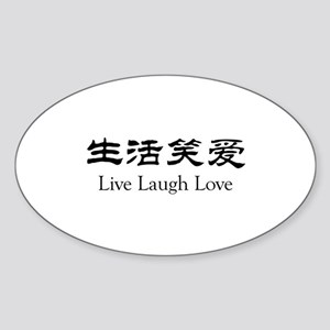 Live Laugh Love Sticker (Oval)