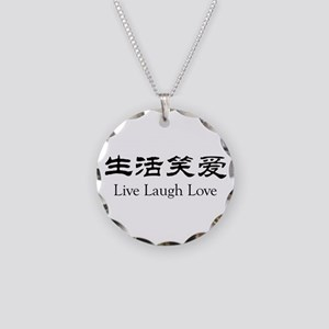 Live Laugh Love Necklace Circle Charm