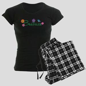 Beatrice Flowers Women's Dark Pajamas