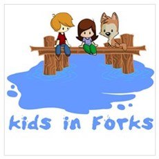Kids in Forks Framed Print