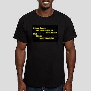 Live long and prosper Men's Fitted T-Shirt (dark)