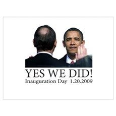 Yes We Did! Framed Print