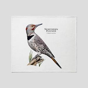 Northern Flicker Throw Blanket