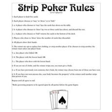 Strip Poker Rules Poster