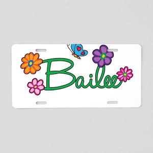 Bailee Flowers Aluminum License Plate