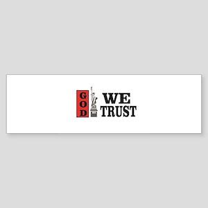 national motto trust god Bumper Sticker