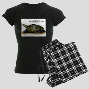 Northern Diamondback Terrapin Women's Dark Pajamas