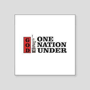 one nation under god liberty Sticker