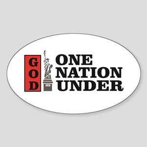one nation under god liberty Sticker