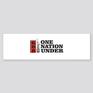 one nation under god liberty Bumper Sticker