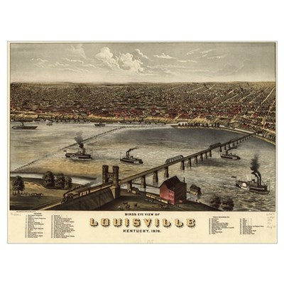 Louisville, Kentucky 1876 Framed Print
