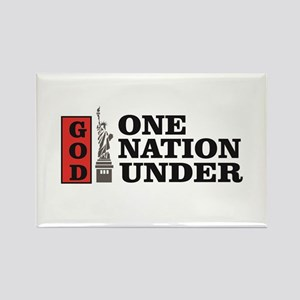 one nation under god liberty Magnets