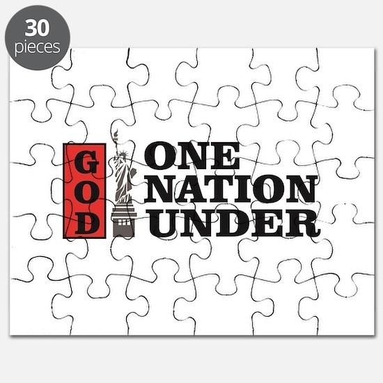 one nation under god liberty Puzzle