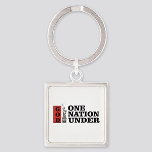 one nation under god liberty Keychains