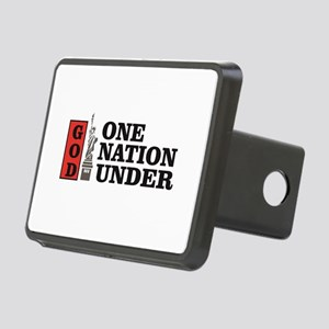 one nation under god liber Rectangular Hitch Cover
