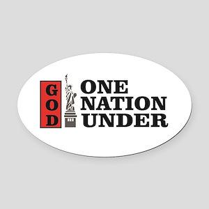 one nation under god liberty Oval Car Magnet