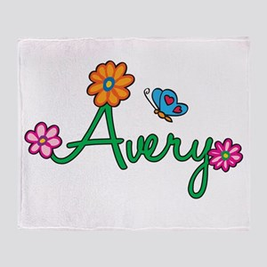 Avery Flowers Throw Blanket