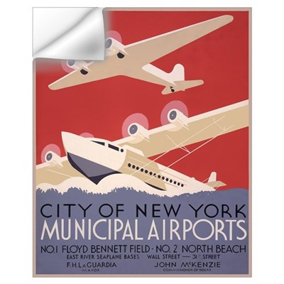Seaplanes and Airplanes Wall Decal