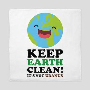 Keep Earth Clean Queen Duvet