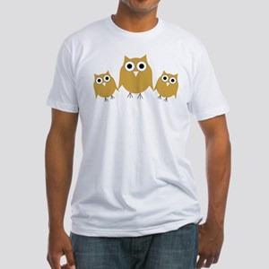 Gold Owls Fitted T-Shirt