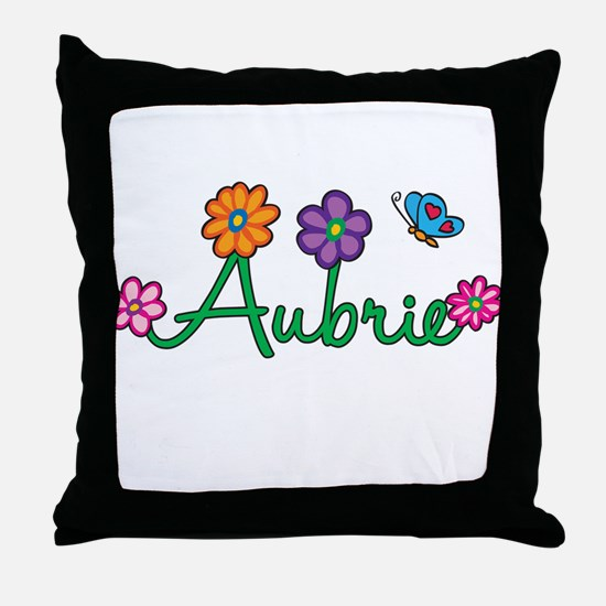 Aubrie Flowers Throw Pillow