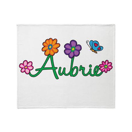 Aubrie Flowers Throw Blanket