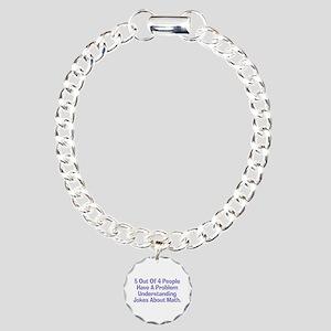 Math Jokes Charm Bracelet, One Charm