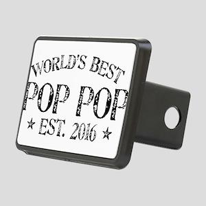 World's Best Pop Pop Est 2016 Hitch Cover