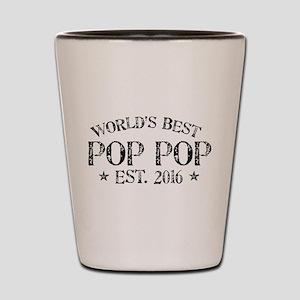 World's Best Pop Pop Est 2016 Shot Glass