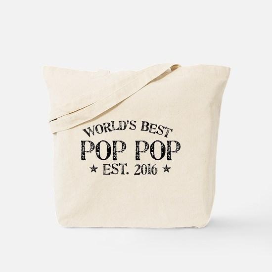 World's Best Pop Pop Est 2016 Tote Bag