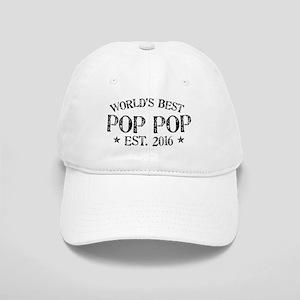 World's Best Pop Pop Est 2016 Baseball Cap