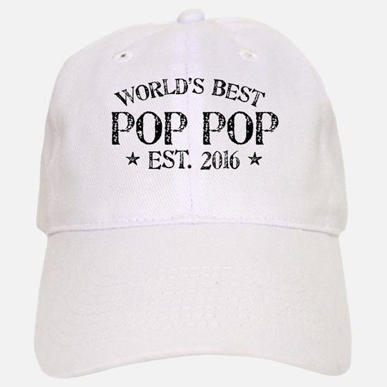 World's Best Pop Pop Est 2016 Baseball Baseball Baseball Cap