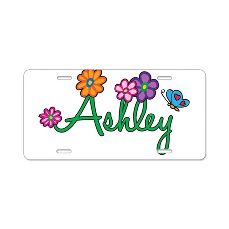 Ashley Flowers Aluminum License Plate
