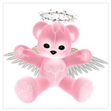 PINK ANGEL BEAR Poster