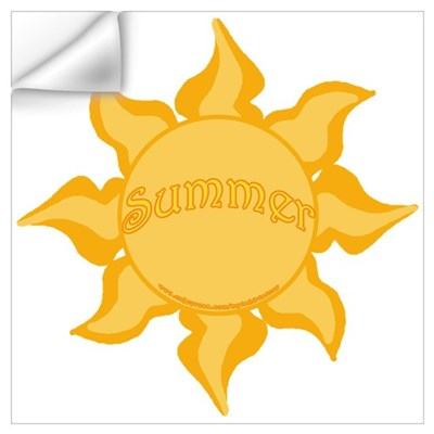 Summer Sun Image Wall Decal