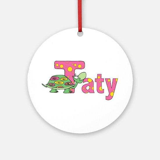 Name design for Taty / Tatyana Ornament (Round)