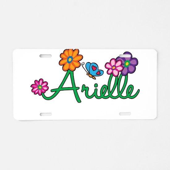Arielle Flowers Aluminum License Plate