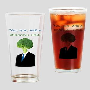 Broccoli Head Drinking Glass
