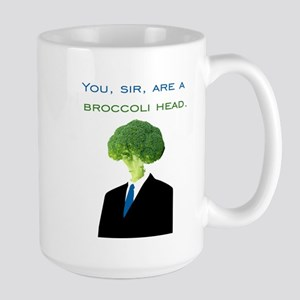 Broccoli Head Large Mug