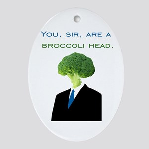 Broccoli Head Oval Ornament
