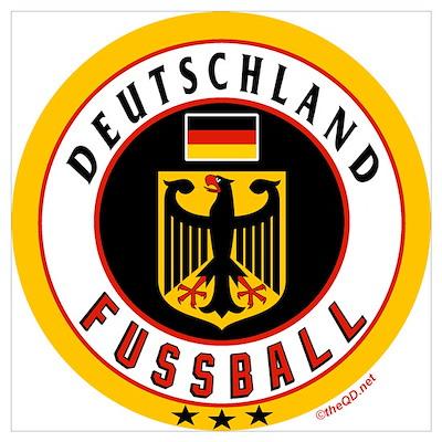 Germany Soccerdeutschland Fussball Poster