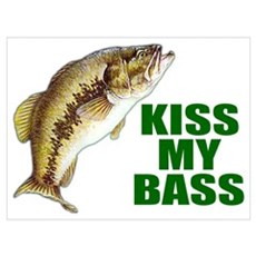 Kiss My Bass Framed Print