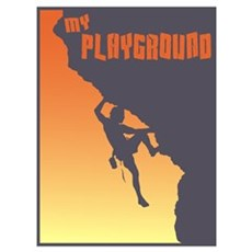 My Playground Rock Climbing Canvas Art